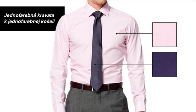 Ako zladiť kravatu ku košeli