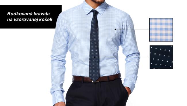 Ako zladiť kravatu s košeľou