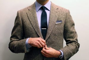 kravatová spona, spona na kravatu, detail