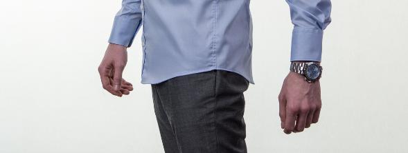 Obleková košeľa Stevula modrá košeľa dĺžka bok