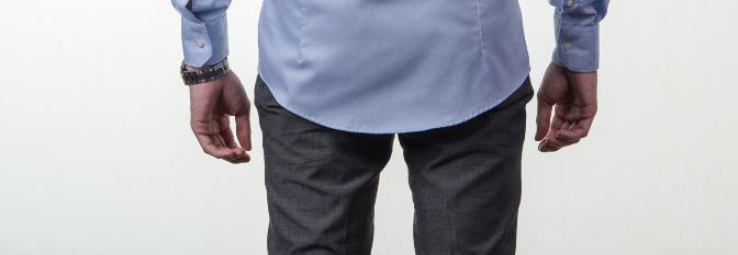 Obleková košeľa Stevula modrá košeľa dĺžka zadok