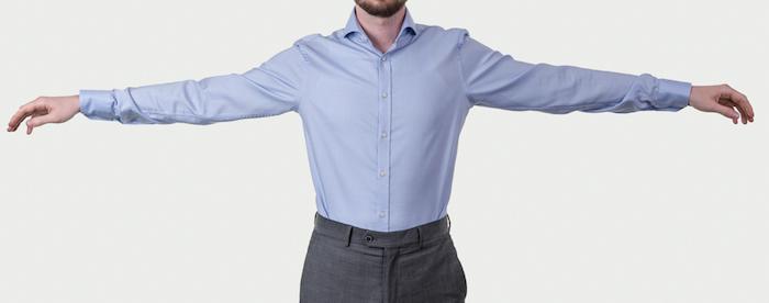 Obleková košeľa Stevula modrá košeľa cutaway golier detal hruď