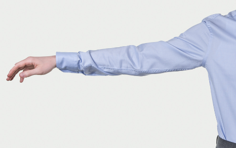 Obleková košeľa Stevula modrá košeľa cutaway golier otvor na ruku