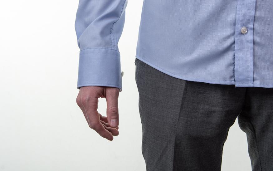 Obleková košeľa Stevula modrá košeľa cutaway golier, rozopnutý rukáv