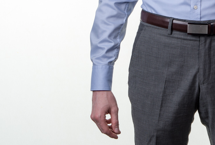 Obleková košeľa Stevula modrá košeľa cutaway golier, zapnutý rukáv