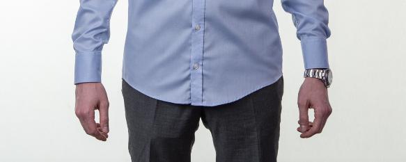 Obleková košeľa Stevula modrá košeľa dĺžka predok